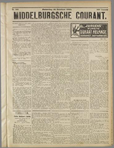 Middelburgsche Courant 1922-10-14