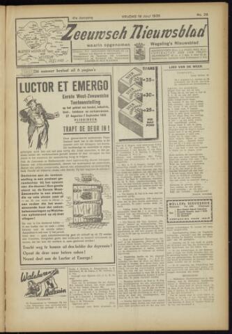 Zeeuwsch Nieuwsblad/Wegeling's Nieuwsblad 1935-07-19