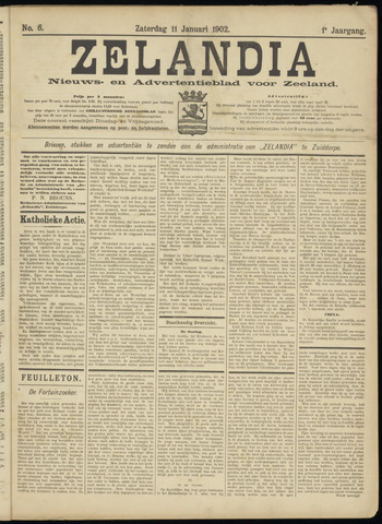 Zelandia. Nieuws-en advertentieblad voor Zeeland | edities: Het Land van Hulst en De Vier Ambachten 1902-01-11