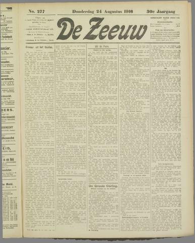 De Zeeuw. Christelijk-historisch nieuwsblad voor Zeeland 1916-08-24