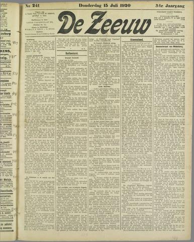 De Zeeuw. Christelijk-historisch nieuwsblad voor Zeeland 1920-07-15