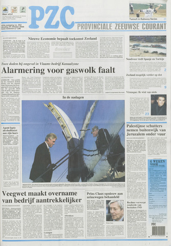Provinciale Zeeuwse Courant 2000-10-24
