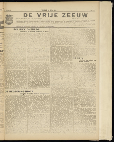 de Vrije Zeeuw 1945-12-14