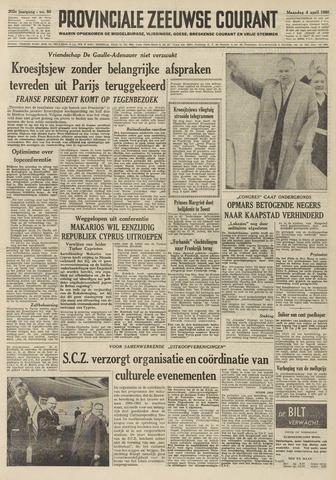 Provinciale Zeeuwse Courant 1960-04-04