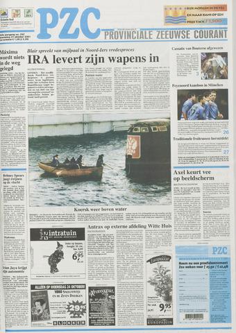 Provinciale Zeeuwse Courant 2001-10-24