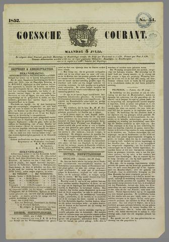 Goessche Courant 1852-07-05
