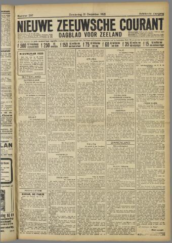 Nieuwe Zeeuwsche Courant 1922-12-21