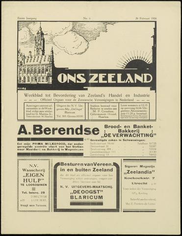 Ons Zeeland / Zeeuwsche editie 1926-02-26