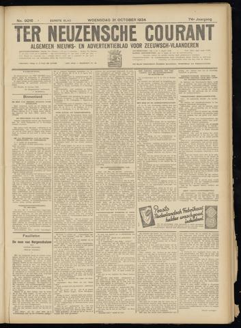 Ter Neuzensche Courant. Algemeen Nieuws- en Advertentieblad voor Zeeuwsch-Vlaanderen / Neuzensche Courant ... (idem) / (Algemeen) nieuws en advertentieblad voor Zeeuwsch-Vlaanderen 1934-10-31