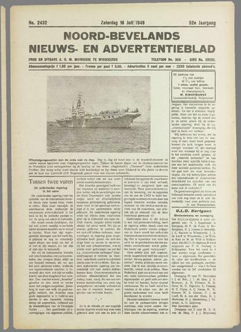 Noord-Bevelands Nieuws- en advertentieblad 1949-07-16