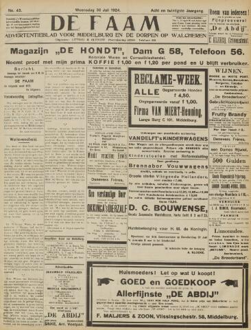 de Faam en de Faam/de Vlissinger 1924-07-30