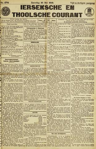 Ierseksche en Thoolsche Courant 1919-05-10