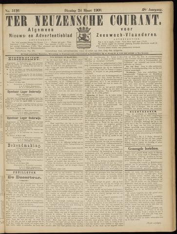 Ter Neuzensche Courant. Algemeen Nieuws- en Advertentieblad voor Zeeuwsch-Vlaanderen / Neuzensche Courant ... (idem) / (Algemeen) nieuws en advertentieblad voor Zeeuwsch-Vlaanderen 1908-03-24