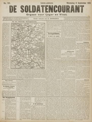 De Soldatencourant. Orgaan voor Leger en Vloot 1915-09-08