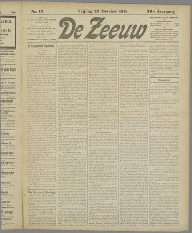De Zeeuw. Christelijk-historisch nieuwsblad voor Zeeland 1915-10-22