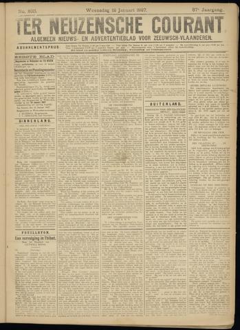 Ter Neuzensche Courant. Algemeen Nieuws- en Advertentieblad voor Zeeuwsch-Vlaanderen / Neuzensche Courant ... (idem) / (Algemeen) nieuws en advertentieblad voor Zeeuwsch-Vlaanderen 1927-01-12