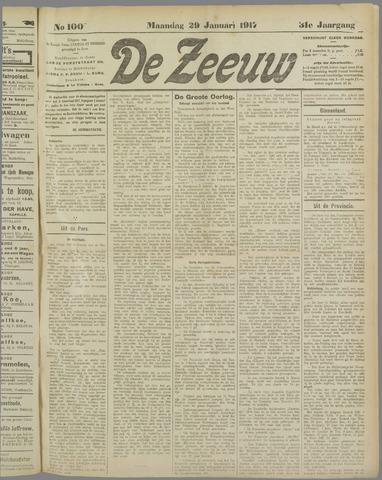 De Zeeuw. Christelijk-historisch nieuwsblad voor Zeeland 1917-01-29