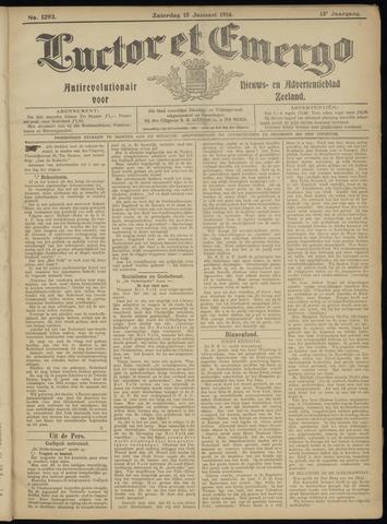 Luctor et Emergo. Antirevolutionair nieuws- en advertentieblad voor Zeeland / Zeeuwsch-Vlaanderen. Orgaan ter verspreiding van de christelijke beginselen in Zeeuwsch-Vlaanderen 1916-01-15