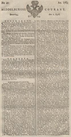 Middelburgsche Courant 1763-04-02
