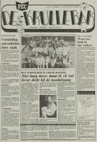 Provinciale Zeeuwse Courant katern Krullenbak (1981-1999) 1985-07-02