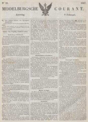 Middelburgsche Courant 1867-02-09