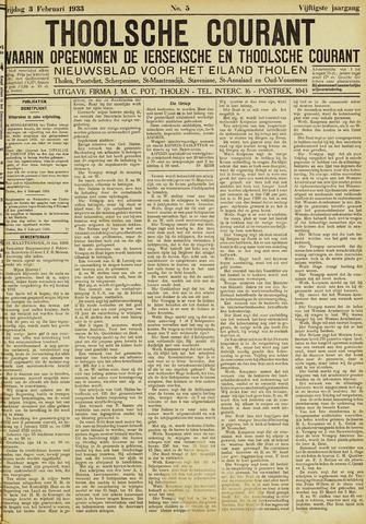 Ierseksche en Thoolsche Courant 1933-02-03