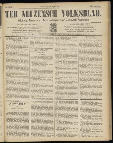Ter Neuzensch Volksblad. Vrijzinnig nieuws- en advertentieblad voor Zeeuwsch- Vlaanderen / Zeeuwsch Nieuwsblad. Nieuws- en advertentieblad voor Zeeland 1913-04-16