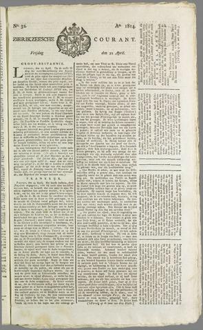 Zierikzeesche Courant 1814-04-22