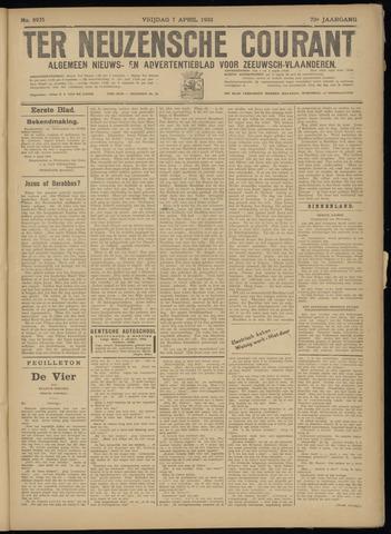 Ter Neuzensche Courant. Algemeen Nieuws- en Advertentieblad voor Zeeuwsch-Vlaanderen / Neuzensche Courant ... (idem) / (Algemeen) nieuws en advertentieblad voor Zeeuwsch-Vlaanderen 1933-04-07