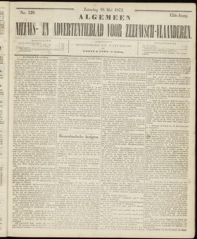 Ter Neuzensche Courant. Algemeen Nieuws- en Advertentieblad voor Zeeuwsch-Vlaanderen / Neuzensche Courant ... (idem) / (Algemeen) nieuws en advertentieblad voor Zeeuwsch-Vlaanderen 1872-05-18