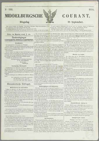 Middelburgsche Courant 1855-09-18
