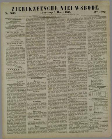 Zierikzeesche Nieuwsbode 1885-03-05