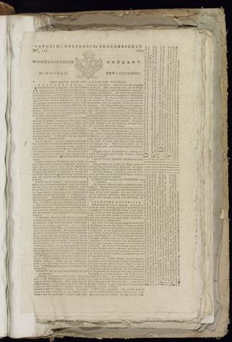 Middelburgsche Courant 1800-09-09