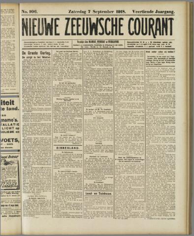 Nieuwe Zeeuwsche Courant 1918-09-07