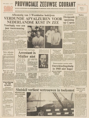 Provinciale Zeeuwse Courant 1967-11-17