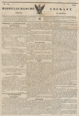 Middelburgsche Courant 1843-09-19