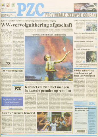 Provinciale Zeeuwse Courant 2003-08-09