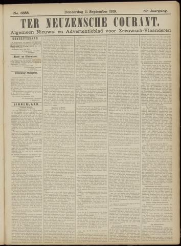 Ter Neuzensche Courant. Algemeen Nieuws- en Advertentieblad voor Zeeuwsch-Vlaanderen / Neuzensche Courant ... (idem) / (Algemeen) nieuws en advertentieblad voor Zeeuwsch-Vlaanderen 1919-09-11