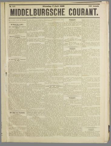 Middelburgsche Courant 1925-07-07