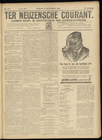 Ter Neuzensche Courant. Algemeen Nieuws- en Advertentieblad voor Zeeuwsch-Vlaanderen / Neuzensche Courant ... (idem) / (Algemeen) nieuws en advertentieblad voor Zeeuwsch-Vlaanderen 1933-11-24