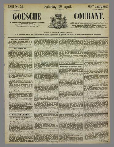 Goessche Courant 1881-04-30