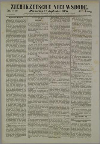 Zierikzeesche Nieuwsbode 1885-09-17