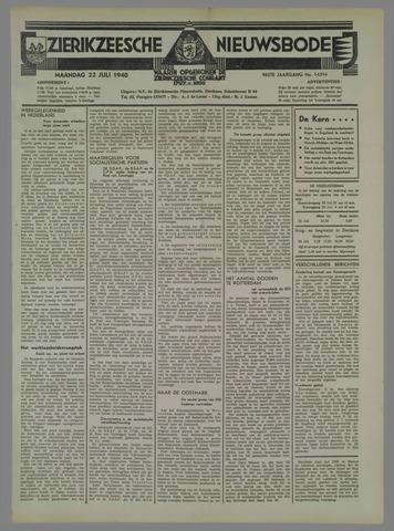 Zierikzeesche Nieuwsbode 1940-07-22