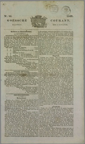 Goessche Courant 1837-10-09