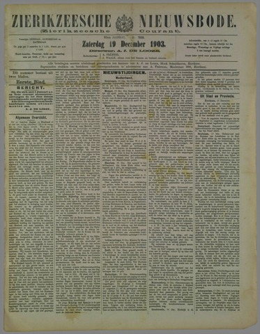 Zierikzeesche Nieuwsbode 1903-12-19
