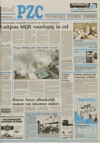Provinciale Zeeuwse Courant 1992-11-28