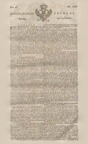 Middelburgsche Courant 1758-10-14