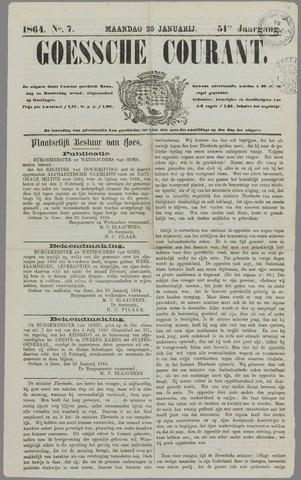 Goessche Courant 1864-01-25