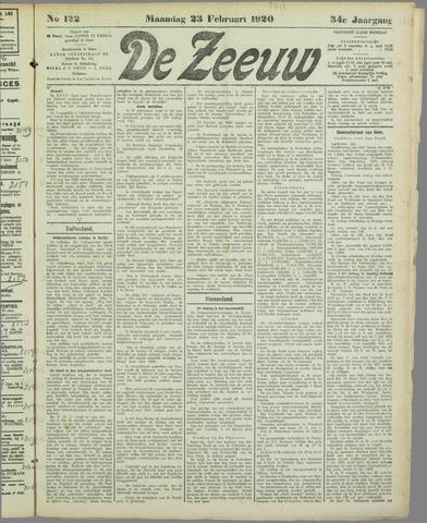 De Zeeuw. Christelijk-historisch nieuwsblad voor Zeeland 1920-02-23