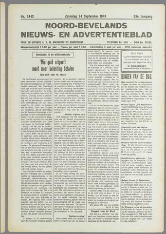 Noord-Bevelands Nieuws- en advertentieblad 1949-09-24